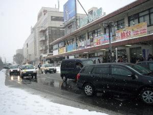 「青森駅は雪の中」